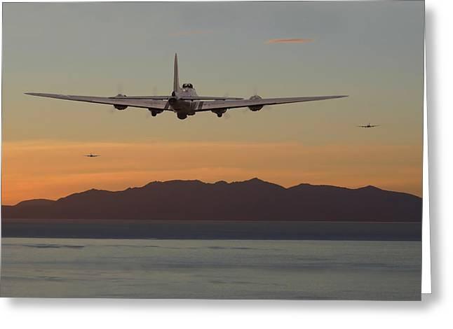 B17  Landfall Greeting Card by Pat Speirs