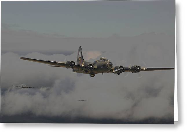 B17 Outbound - 'heavy Weather' Greeting Card
