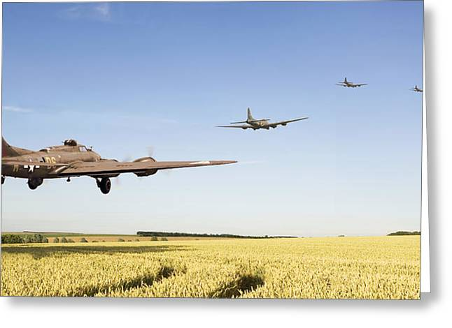 B17 -the Ripening Harvest Greeting Card by Pat Speirs