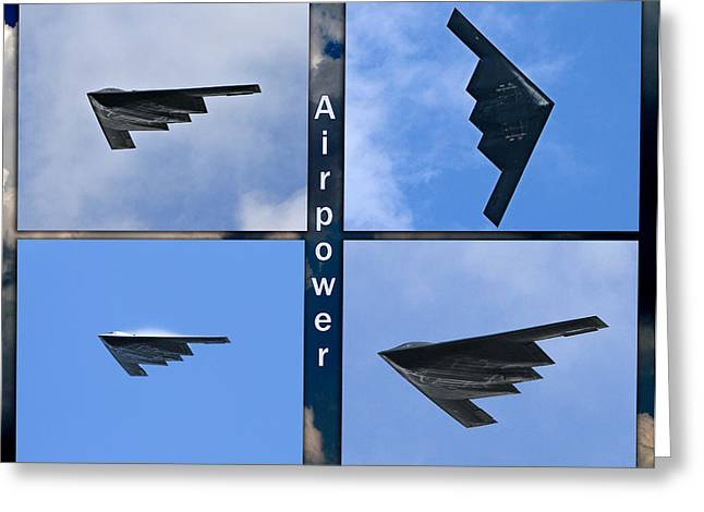 Greeting Card featuring the photograph B2 Stealth Bomber by John Freidenberg