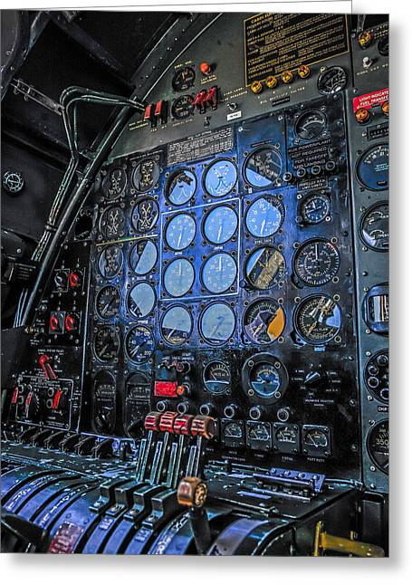 B29 Fe Panel Greeting Card by Chris Smith