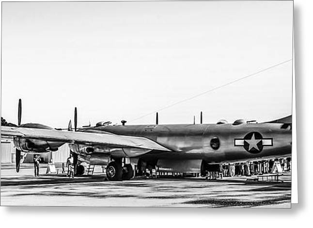 B29 In Black And White Greeting Card by Chris Smith
