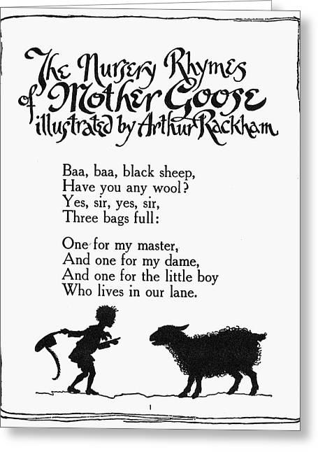 Baa, Baa, Black Sheep Greeting Card