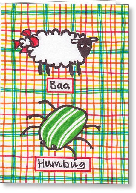 Baa Humbug Greeting Card by Julie  Hutchinson
