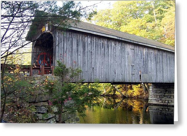 Babbs Covered Bridge In Maine Greeting Card by Catherine Gagne