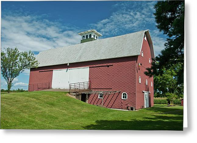 Greeting Card featuring the photograph Babcock Barn 2263 by Guy Whiteley