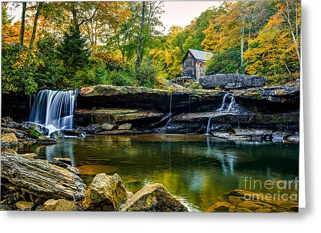 Babcock Falls As The Leaves Turn Greeting Card by Mark East