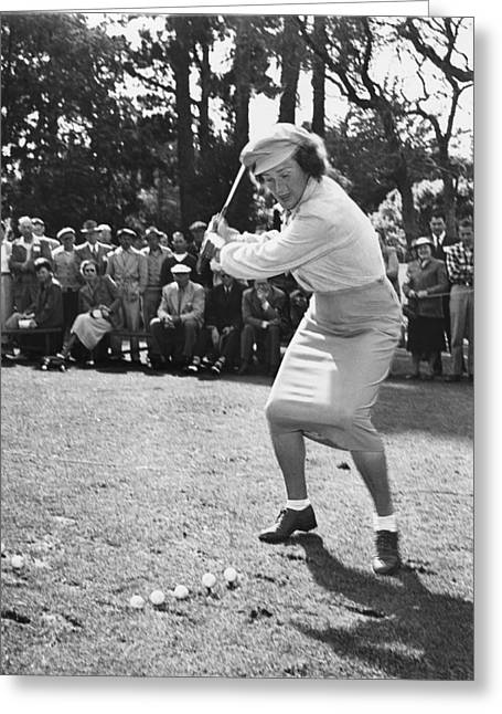 Babe Didrikson Demonstration Greeting Card