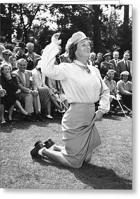 Babe Didrikson Zaharias Greeting Card by Underwood Archives