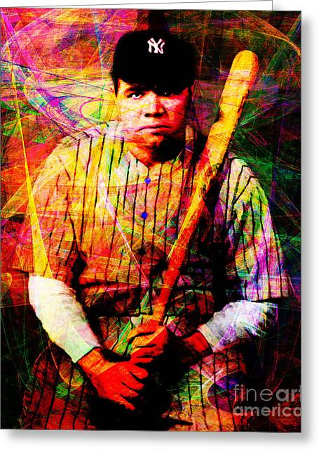 Babe Ruth 20141220 V2 Greeting Card by Wingsdomain Art and Photography