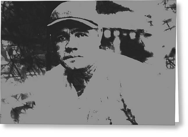 Babe Ruth Pant Splatter Greeting Card