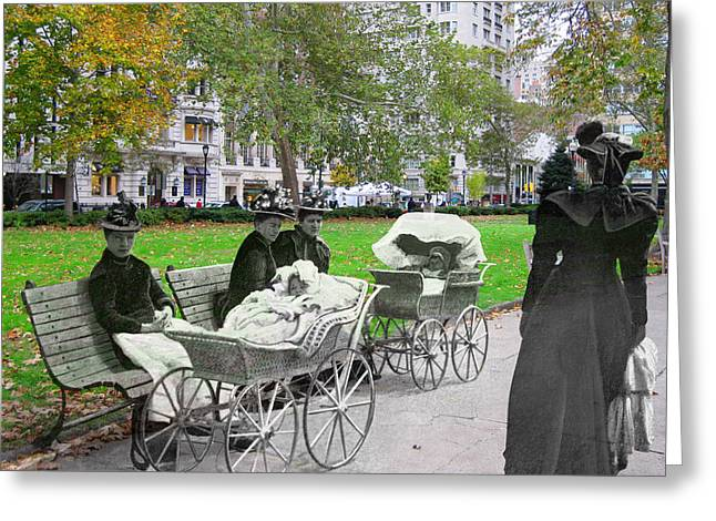 Babies In Rittenhouse Square Greeting Card