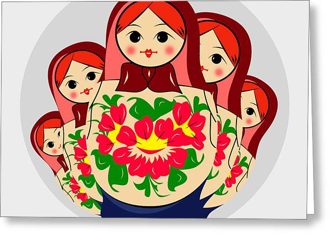 Babushka Greeting Card by Mark Ashkenazi
