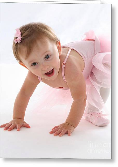 Baby Ballerina Greeting Card by Suzi Nelson