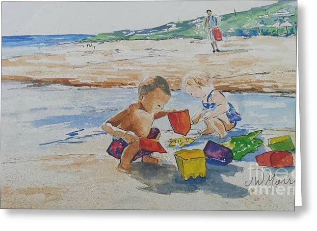 Baby Beach Bums Greeting Card