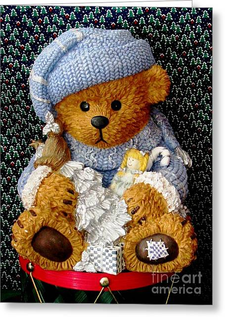 Baby Bear Ready For Christmas Greeting Card