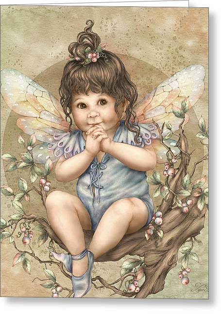 Baby Berry Fairy Greeting Card
