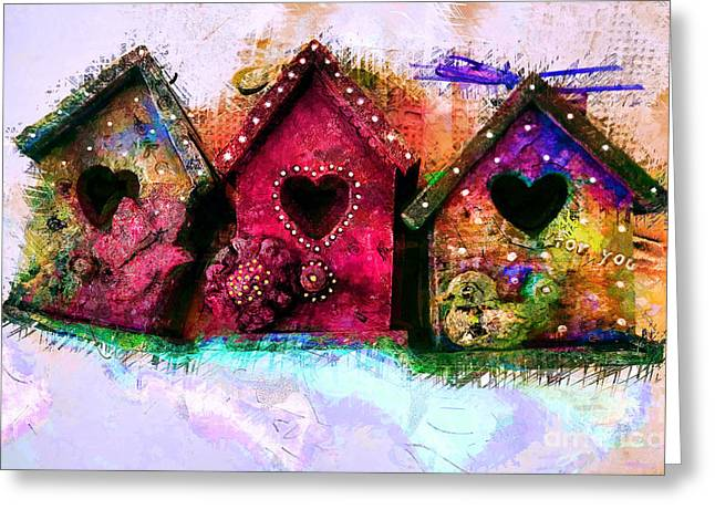 Baby Birdhouses Greeting Card