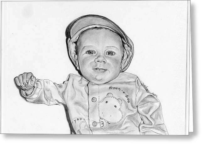 Baby Boy Jake Greeting Card by Barb Baker