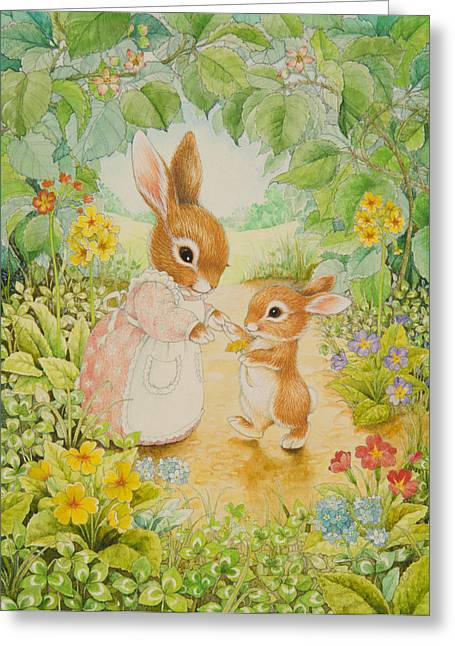 Baby Bunny Greeting Card by Lynn Bywaters