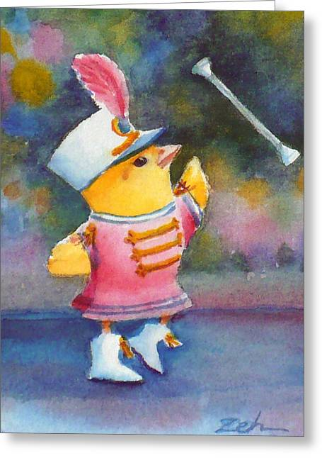 Baby Chick Drum Majorette Greeting Card