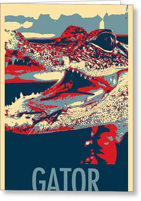 Baby Gator In Hope Greeting Card by Rob Hans