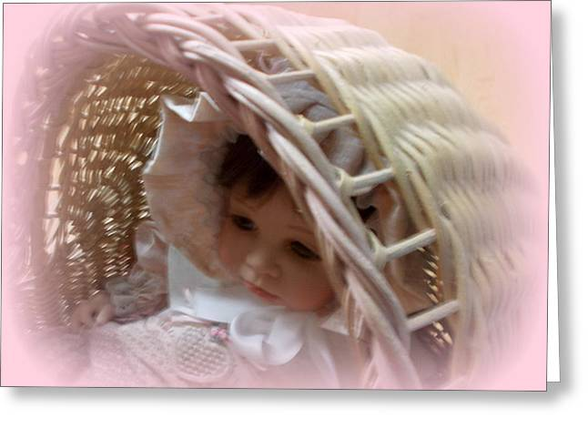 Baby In Pink Greeting Card