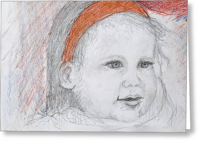 Baby Josephine Greeting Card by Barbara Anna Knauf