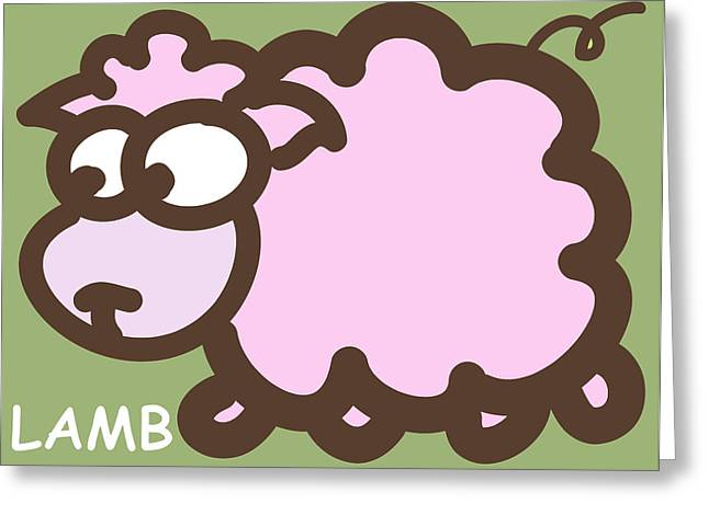 Baby Lamb Nursery Art Greeting Card by Nursery Art