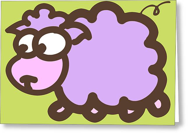 Baby Lamb Nursery Print Greeting Card by Nursery Art