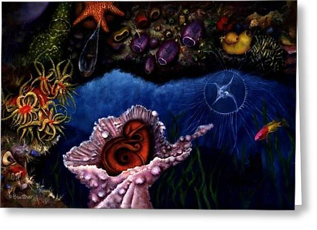 Greeting Card featuring the painting Baby Octopus  by Lynn Buettner
