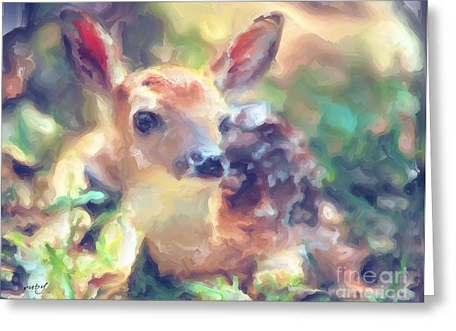 Baby Of The Wild Greeting Card