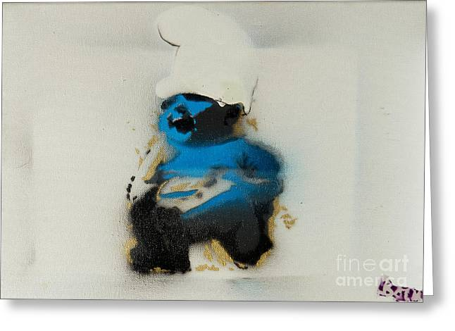Baby Smurf Greeting Card by Barry Boom