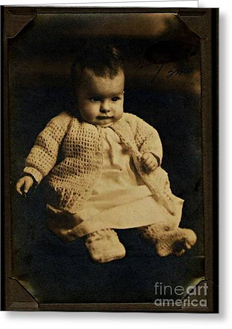 Baby Virginia 1930 Greeting Card by Unknown