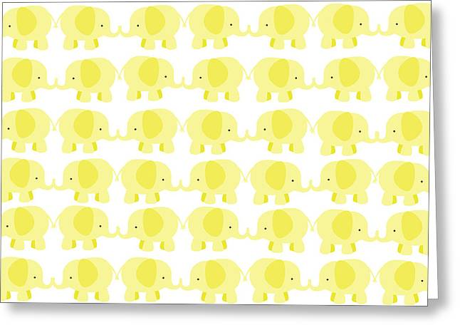 Baby Yellow Elephants Greeting Card by Chastity Hoff