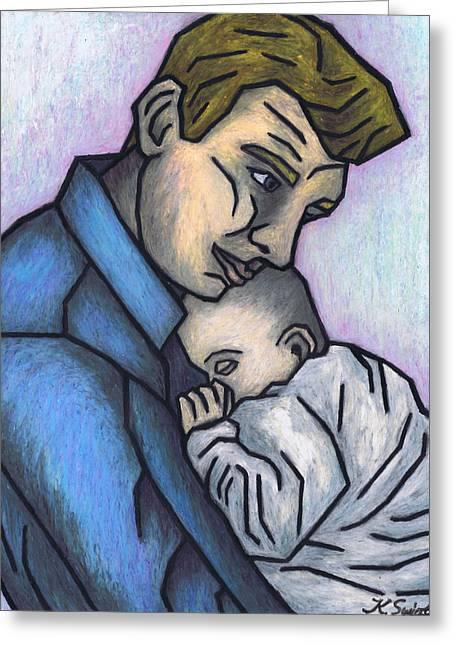 Baby's Lullaby Greeting Card by Kamil Swiatek