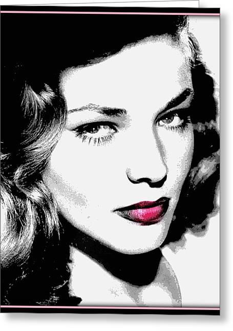 Bacall Greeting Card by Wendie Busig-Kohn
