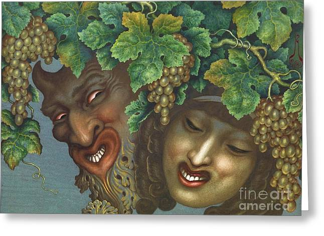Bacchanalia Greeting Card by Pg Reproductions