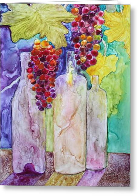 Bacchus Greeting Card by Nancy Jolley