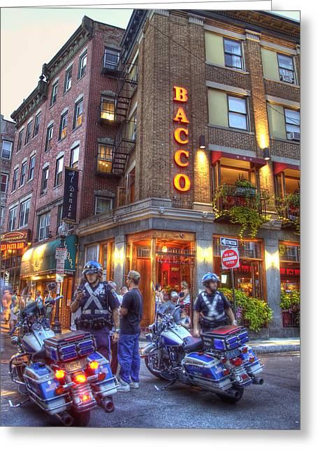 Bacco In The North End Boston Greeting Card by Joann Vitali