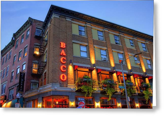 Bacco Restaurant - Boston Greeting Card by Joann Vitali