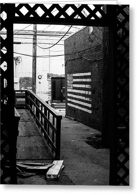 Back Alley America Greeting Card by Nathan Hillis