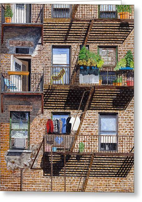 Back Alley View Greenwich Vlg Greeting Card