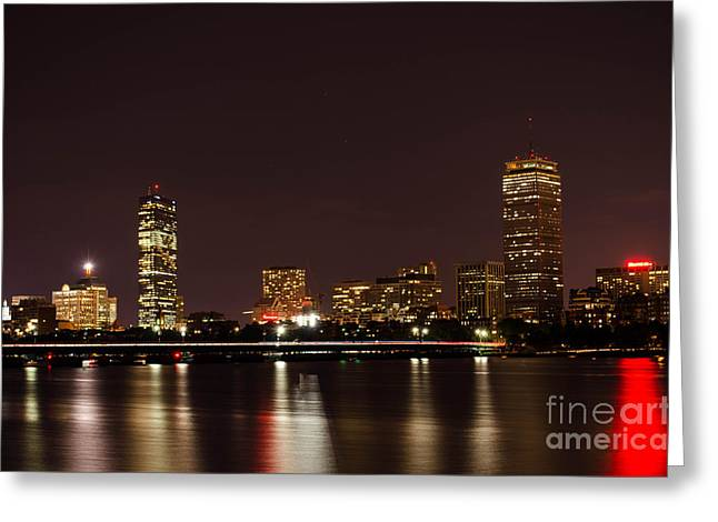 Greeting Card featuring the photograph Back Bay At Night by Mike Ste Marie