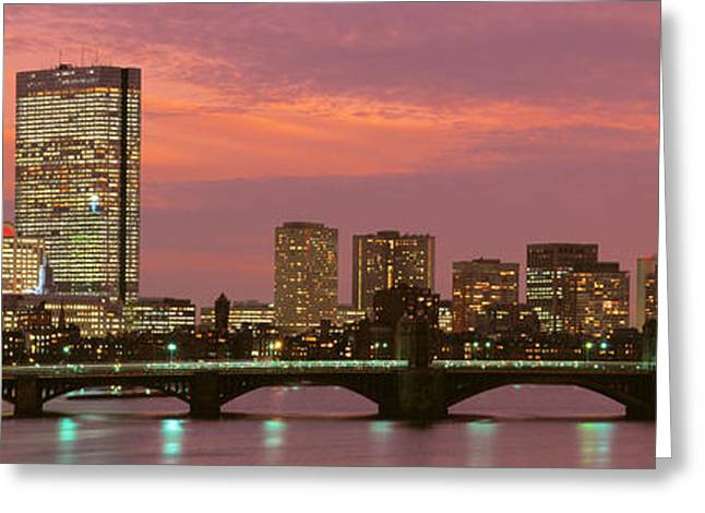 Back Bay, Boston, Massachusetts, Usa Greeting Card by Panoramic Images