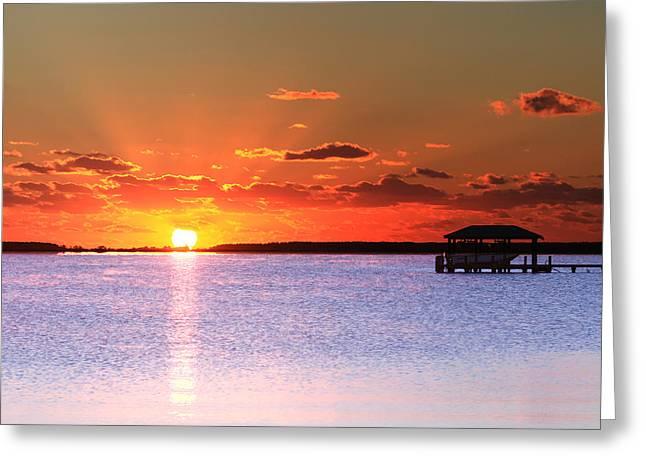 Back Bay Sunrise Greeting Card
