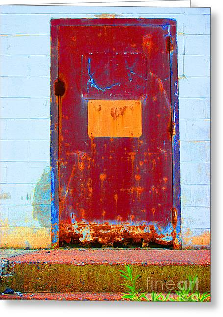 Greeting Card featuring the photograph Back Door by Christiane Hellner-OBrien