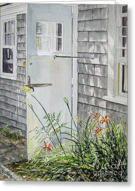 Back Door Nantucket Greeting Card