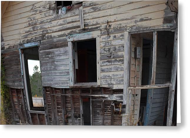 Back Door Needs Work Greeting Card