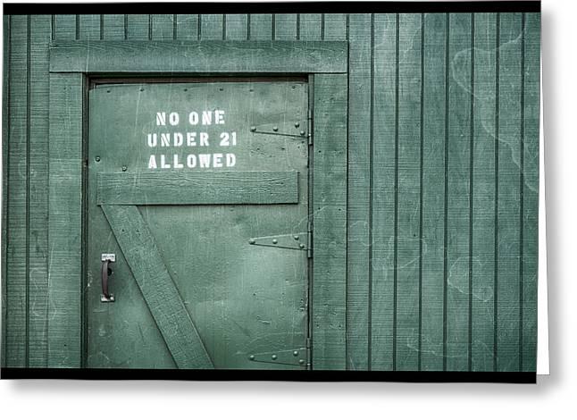 Back Door Okelly's Irish Pub Greeting Card
